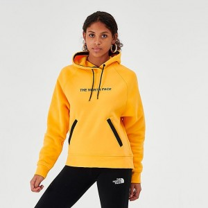 Women's The North Face Pullover Hoodie Yellow/Black Sales