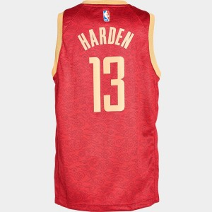Kids' Nike Houston Rockets NBA James Harden City Edition Swingman Connected Jersey Team Crimson Sales