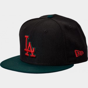 New Era Los Angeles Dodgers MLB Team 9FIFTY Snapback Hat Black/Green/Red Sales