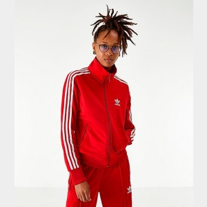 Women's adidas Originals Firebird Track Jacket Red/White Sales