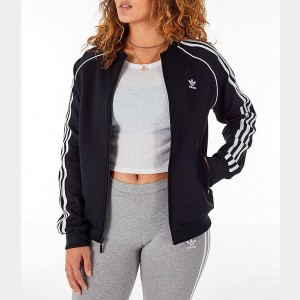 Women's adidas Originals Superstar Track Jacket Black/White Sales