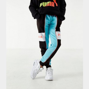 Boys' Puma XTG Colorblock Jogger Pants Black/Blue/Orange Sales