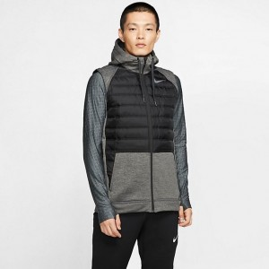 Men's Nike Therma Winterized Full-Zip Vest Black/Grey Sales