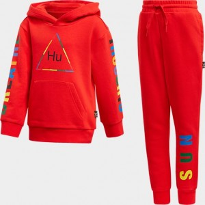 Toddler and Little Kids' adidas Originals x Pharrell Williams TBIITD Hoodie and Pants Set Red Sales