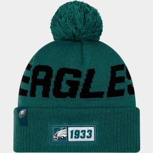 New Era Philadelphia Eagles NFL Road Sideline Beanie Hat Team Colors Sales