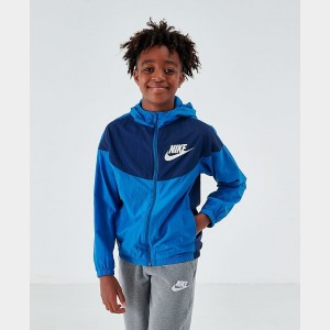 Boys' Nike Sportswear Woven Jacket Mountain Blue/Midnight Navy Sales