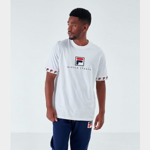Men's Fila Rosso T-Shirt White Sales