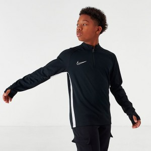Boys' Nike Dri-FIT Academy Soccer Drill Half-Zip Top Black Sales