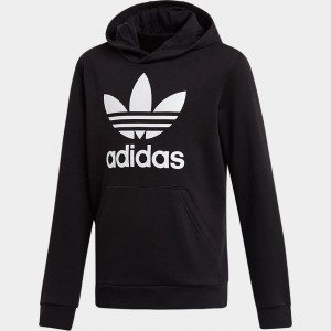 Kids' adidas Originals Trefoil Hoodie Black/White Sales