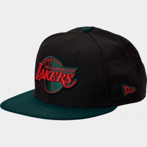 New Era Los Angeles Lakers NBA Team 9FIFTY Snapback Hat Black/Green/Red Sales