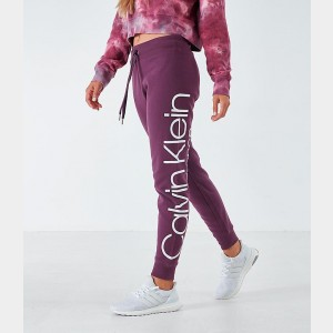 Women's Calvin Klein Logo Jogger Pants Blackberry Sales