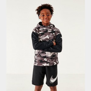 Boys' Nike Thermo Camo Hoodie Vast Grey/Black/White Sales