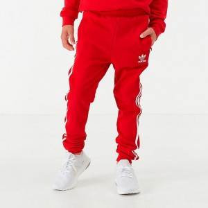 Boys' adidas Originals Trefoil Jogger Pants Scarlet Sales