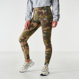 Women's adidas Originals Allover Print Leggings Hemp/Earth Green/Base Green/Cargo Sales