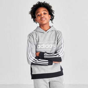 Boys' adidas Originals Colorblock Logo Hoodie Medium Grey Heather Sales