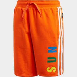 Kids' adidas Originals x Pharrell Williams TBIITD Shorts Orange Sales