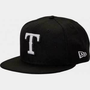 New Era Texas Rangers MLB 9FIFTY Snapback Hat Black Sales