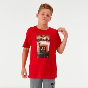 "Boys' Jordan ""Air"" Chimney T-Shirt Red Sales"