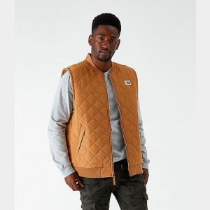 Men's The North Face Cuchillo Insulated Vest Cedar Brown Sales