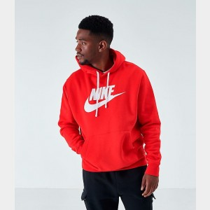 Men's Nike Sportswear Club Fleece Hoodie University Red Sales