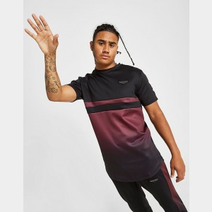 Men's Supply & Demand Roller Fade 2 T-Shirt Black/Faded Maroon Sales