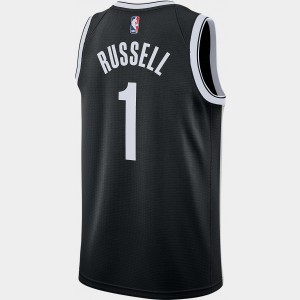 Men's Nike Brooklyn Nets NBA D'Angelo Russell Icon Edition Connected Jersey Black Sales