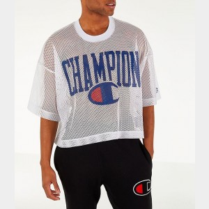 Men's Champion Mesh Football Jersey T-Shirt White Sales