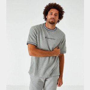 Men's Champion Terry Script T-Shirt Oxford Grey Sales
