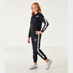 Girls' Nike Sportswear Track Suit Black/White Sales