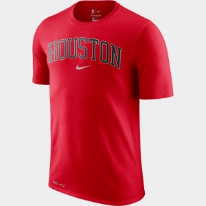 Men's Nike Dri-FIT Houston Rockets NBA City T-Shirt Red Sales