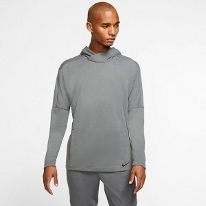 Men's Nike Yoga Dri-FIT Hoodie Iron Grey/Black Sales