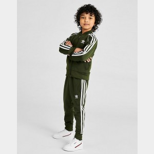 Kids' adidas Originals Trefoil Track Jacket Night Cargo Sales