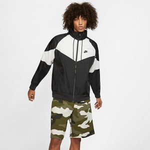 Men's Nike Sportswear Windrunner Hooded Jacket Black/Summit White/Black/Black Sales