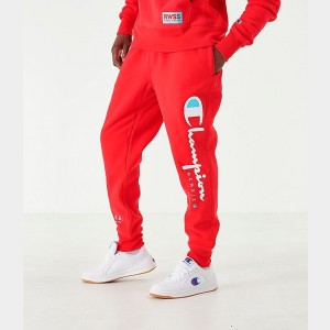 Men's Champion MCMXIX Jogger Pants Red Sales