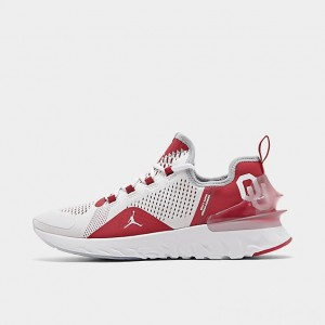 Men's Jordan React Havoc Oklahoma Sooners Running Shoes White/Metallic Silver/Crimson Sales