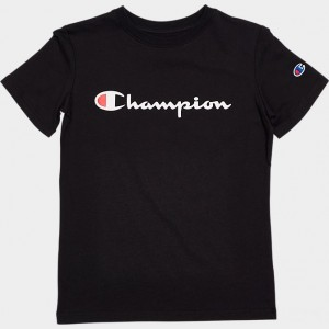 Kids' Champion Heritage T-Shirt Black Sales