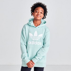 Girls' adidas Originals Trefoil Hoodie Vapor Green Sales