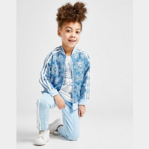 Girls' adidas Originals Allover Print Superstar Track Jacket White/Print Sales