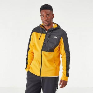 Men's The North Face Essential Fleece Full-Zip Hoodie TNF Yellow/Black Sales