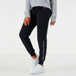 Women's Tommy Hilfiger Logo Jogger Pants Black Sales