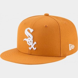 New Era Chicago White Sox MLB 9FIFTY Snapback Hat Tan Sales