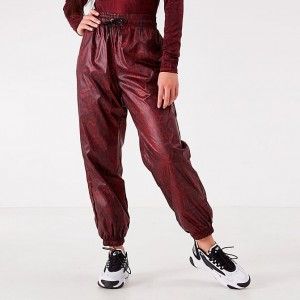 Women's Nike Sportswear Python Woven Jogger Pants Team Red Sales