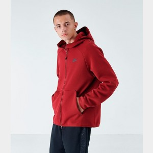 Men's Nike Sportswear Tech Fleece Full-Zip Hoodie Team Red/Black Sales