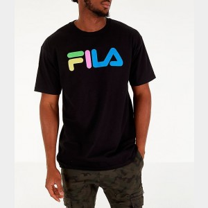 Men's Fila Technicolor T-Shirt Black Sales