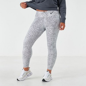 Women's Nike Sportswear Python Leggings (Plus Size) White/Black Sales