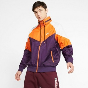 Men's Nike Sportswear Windrunner Hooded Jacket Grand Purple/Starfish/Summit White/Summit White Sales