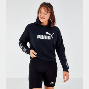Women's Puma Amplified Crop Hoodie Black Sales