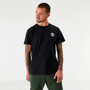 Men's Timberland Big Tree Back Logo T-Shirt Black Sales