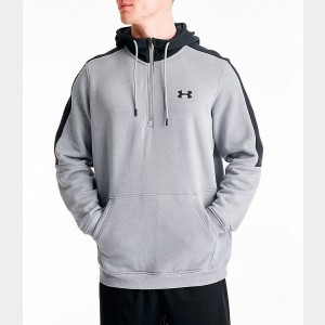 Men's Under Armour Microthread Fleece Half-Zip Hoodie Mid Grey Sales