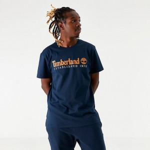 Men's Timberland Established T-Shirt Navy Sales